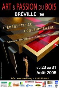 """Affiche """"Ébénisterie contemporaine"""" 2008"""